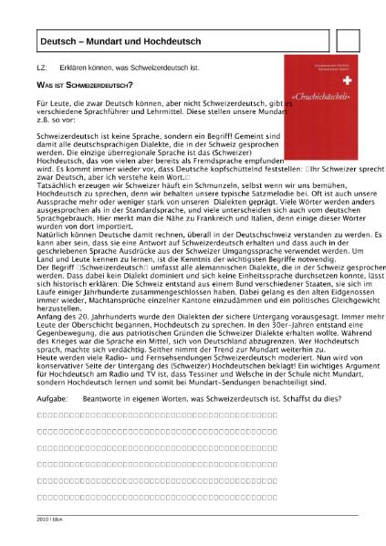 Was ist Schweizerdeutsch? / Sprachen / Deutsch / SchulArena.com ...