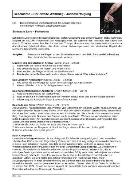 Schindlers Liste / Natur - Mensch - Gesellschaft / Geschichte ...