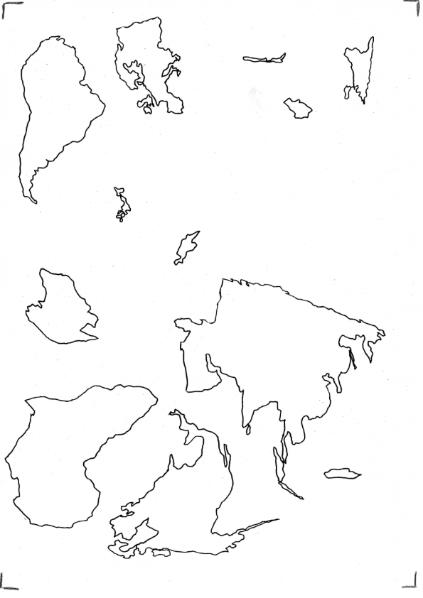 Kontinente - Umrisse / Natur - Mensch - Gesellschaft / Geographie ...