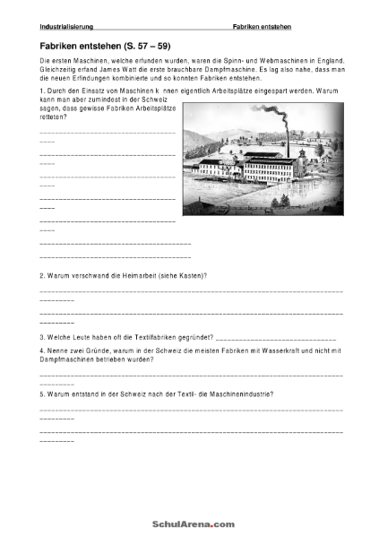 Industrialisierung / Natur - Mensch - Gesellschaft / Geschichte ...