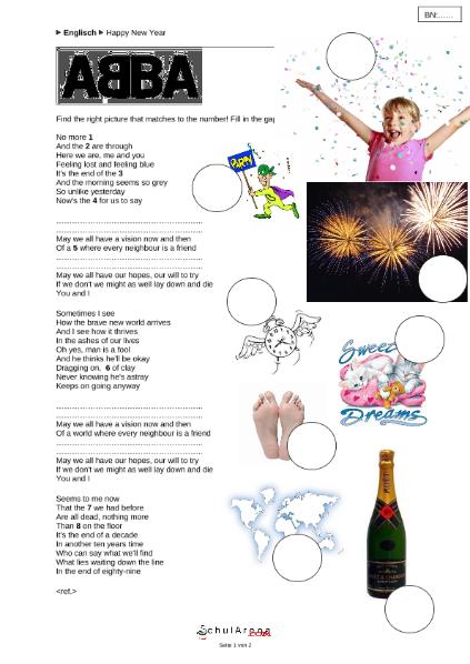 Abba - Happy New Year / Sprachen / Englisch / SchulArena.com ...