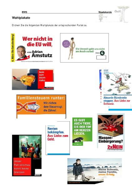 Parteien Schweiz / Natur - Mensch - Gesellschaft / Geschichte ...