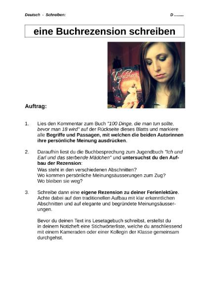 Buchrezension schreiben deutschunterricht bachelorarbeit literaturarbeit bwl