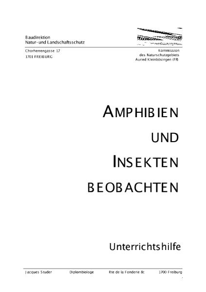 Amphibien beobachten - Auried / Natur - Mensch - Gesellschaft ...