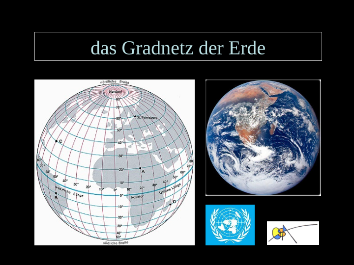 Gradnetz der Erde - Längen- und Breitengrade / Natur - Mensch ...