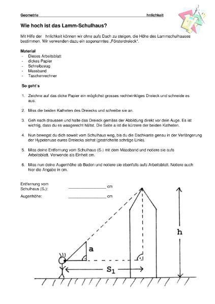 Arbeitsblätter zum Thema ähnliche Figuren / Mathematik / Algebra u ...