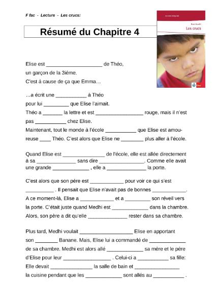 Lecture Les Crucs Chapître 4 Résumé Sprachen Französisch