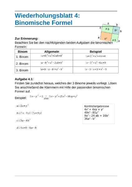Charmant Multiplizieren Binomen Arbeitsblatt Zeitgenössisch - Mathe ...
