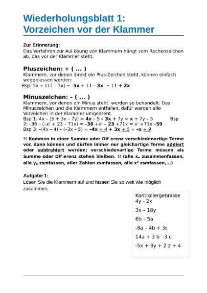 Mathematik / Algebra u. Arithmetik / SchulArena.com ...