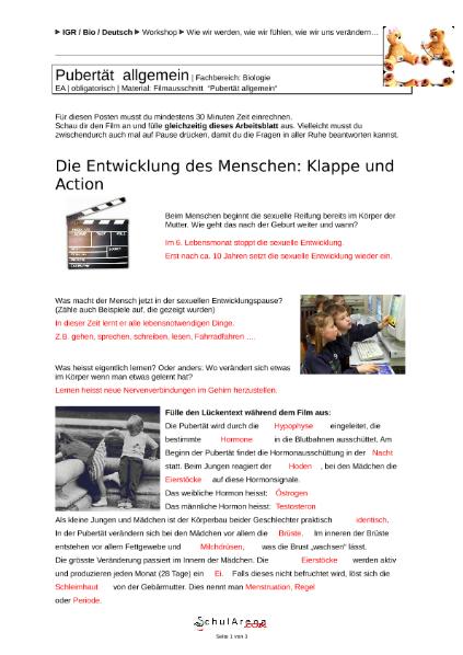 Natur - Mensch - Gesellschaft / EGR - Berufswahl / SchulArena.com ...