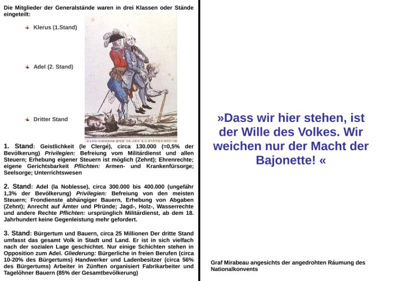Dominosteine - Französische Revolution / Natur - Mensch ...
