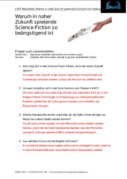 Spielende Science-Fiction / Sprachen / Deutsch / SchulArena.com ...