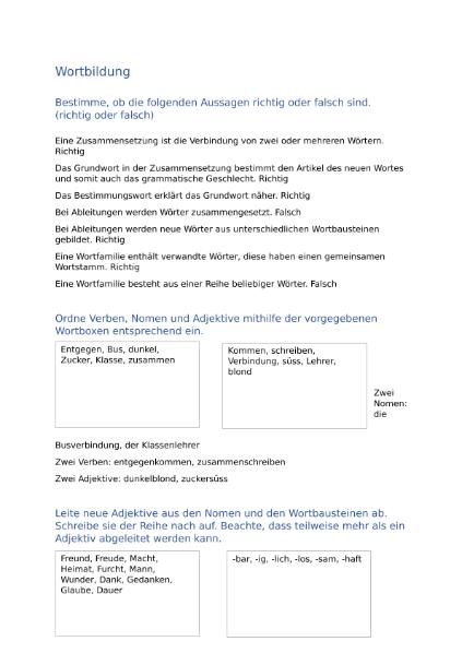 Großzügig Verbindung Adjektive Arbeitsblatt Pdf Ideen ...