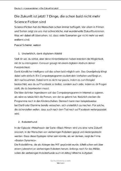 Sprachen / Deutsch / SchulArena.com Unterrichtsmaterial und ...
