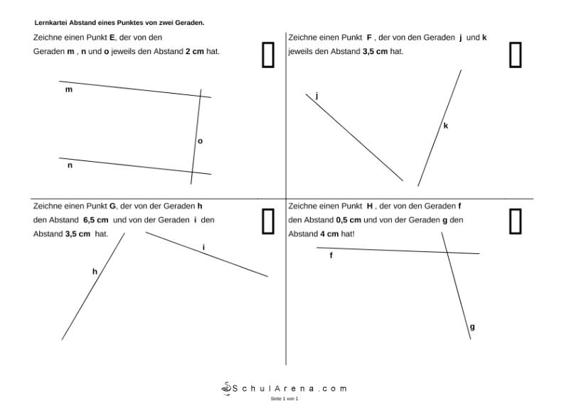 Abstand Punkt-zwei Geraden - 2 / Mathematik / Geometrie / SchulArena ...