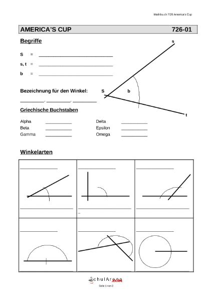 Begriffe Winkel / Mathematik / Geometrie / SchulArena.com ...