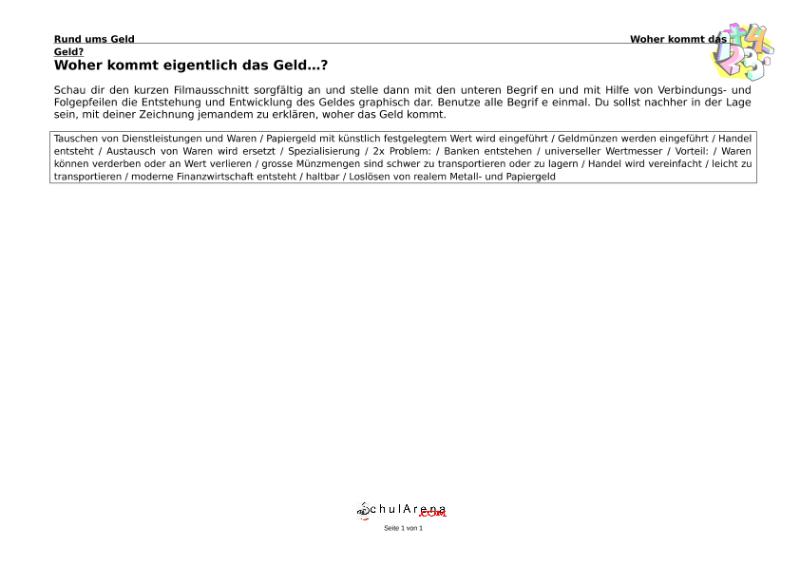 Natur - Mensch - Gesellschaft / EGR - Berufswahl / Umgang mit Geld ...