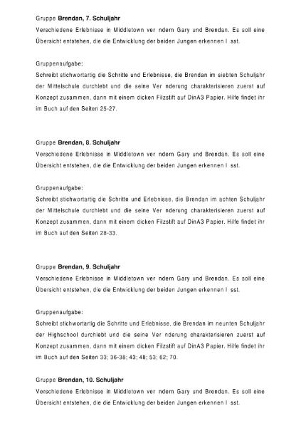 Gruppenaufgaben - Ich knall euch ab Rhue Morton / Sprachen / Deutsch ...