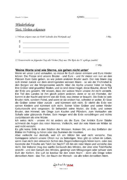 Atemberaubend Verben In Einem Satz Arbeitsblatt Zu Identifizieren ...