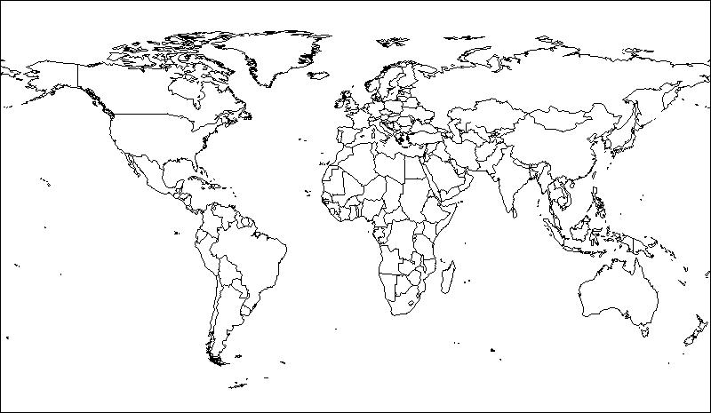 Stumme Weltkarte Sprachen Englisch Schularena Com