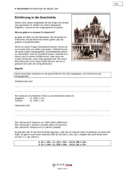 Zeitrechnung / Natur - Mensch - Gesellschaft / Geschichte ...